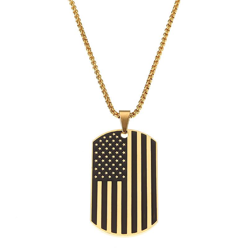 American Flag Sports Titanio Collana in acciaio Trendy Unisex Accessori Abbigliamento per Uomini Donne