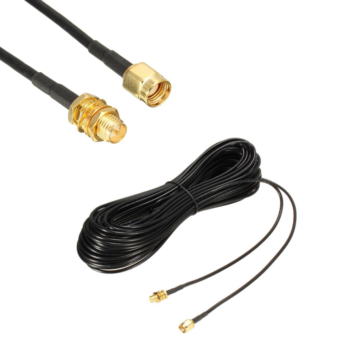 20CM / 1M / 5M / 10M RP-SMA Man-vrouw-verlengkabel voor draadloze antenne