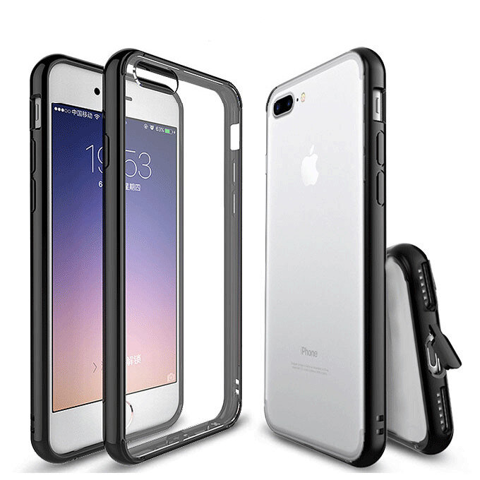 Shockproof Dustproof Soft Transparent Case With Dust Plug For iPhone 7 & 8
