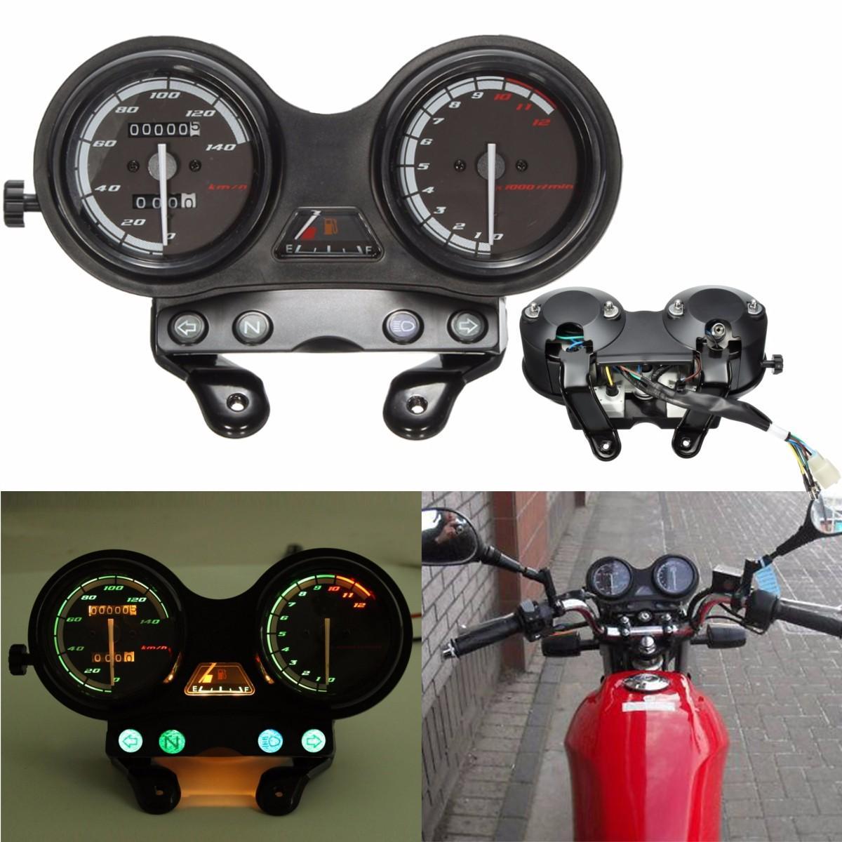 12000 دورة في الدقيقة دراجة نارية لد عداد المسافات عداد السرعة ل Yamaha يبر 125