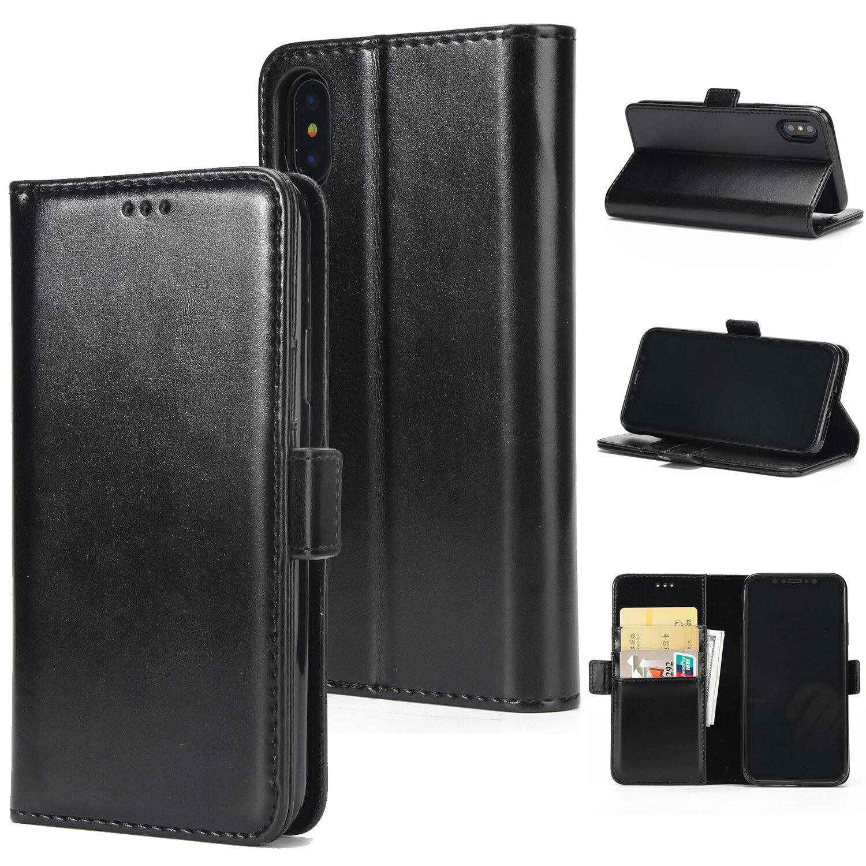 Слот для карты Flip Bracket Магнитный PU кожаный бумажник Чехол для iPhone X