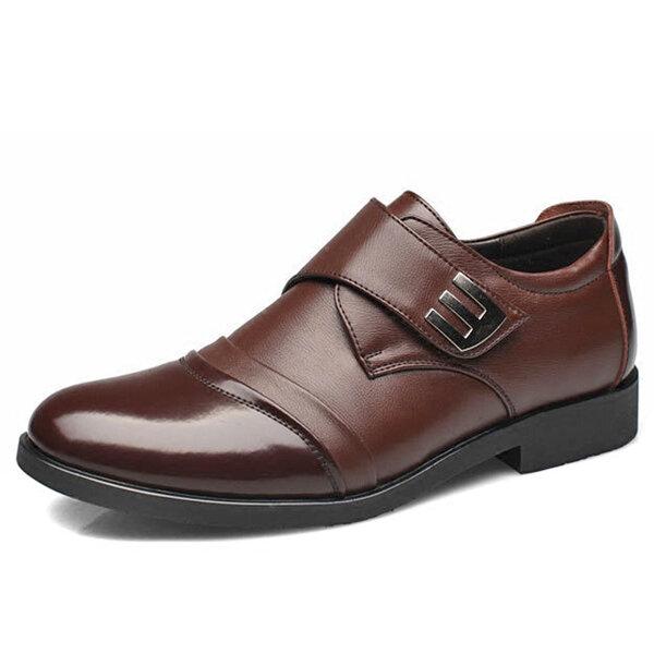 Мужчины Крюк Loop Натуральная Кожа Официальная обувь для бизнеса