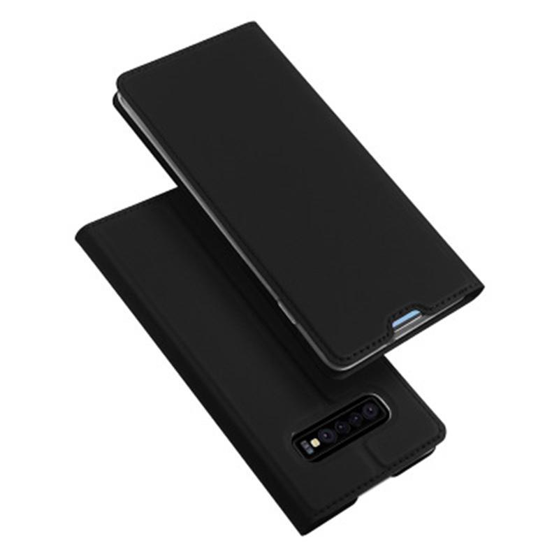 DUX DUCIS Slot Para Cartão De Carteira De Aleta Magnética Kickstand Protetora Caso Para Samsung Glalaxy S10 Plus 6.4 Polegada
