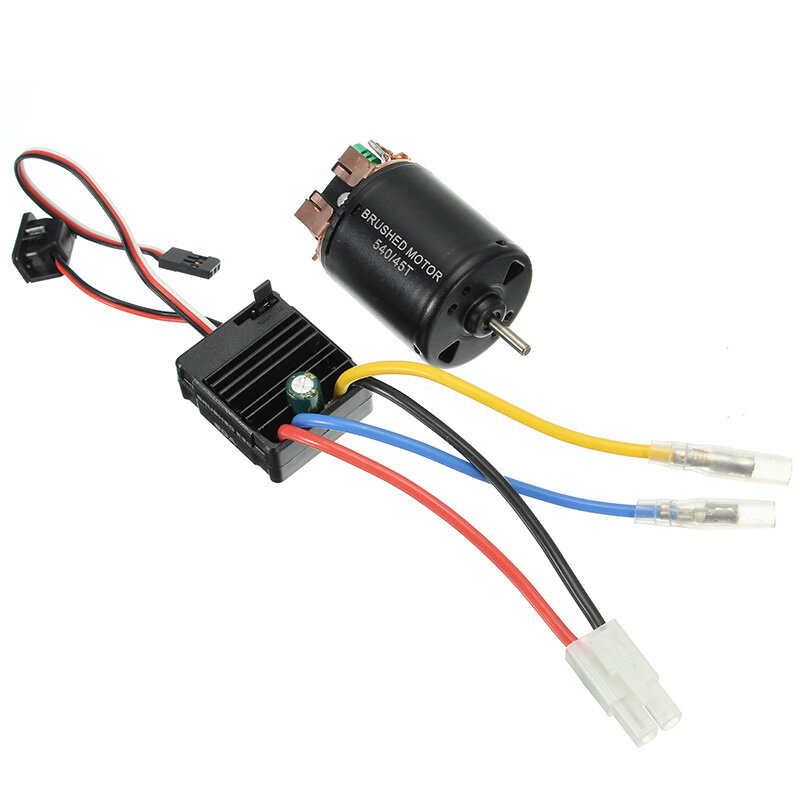 540 Мотор 60A ESC Carbon Brushed Shaft 3.175mm для 1/10 RC автомобилей