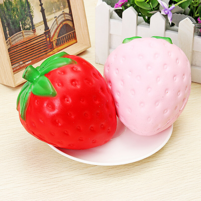Squishy Morango Jumbo 11.5cm Lento Rising Soft Fruit Collection Gift Decor Toy