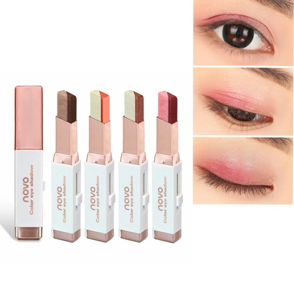 6 Colors Double Color Pearl Eyeshadow Pen Eye Shadow Stick Gradient Colors Makeup