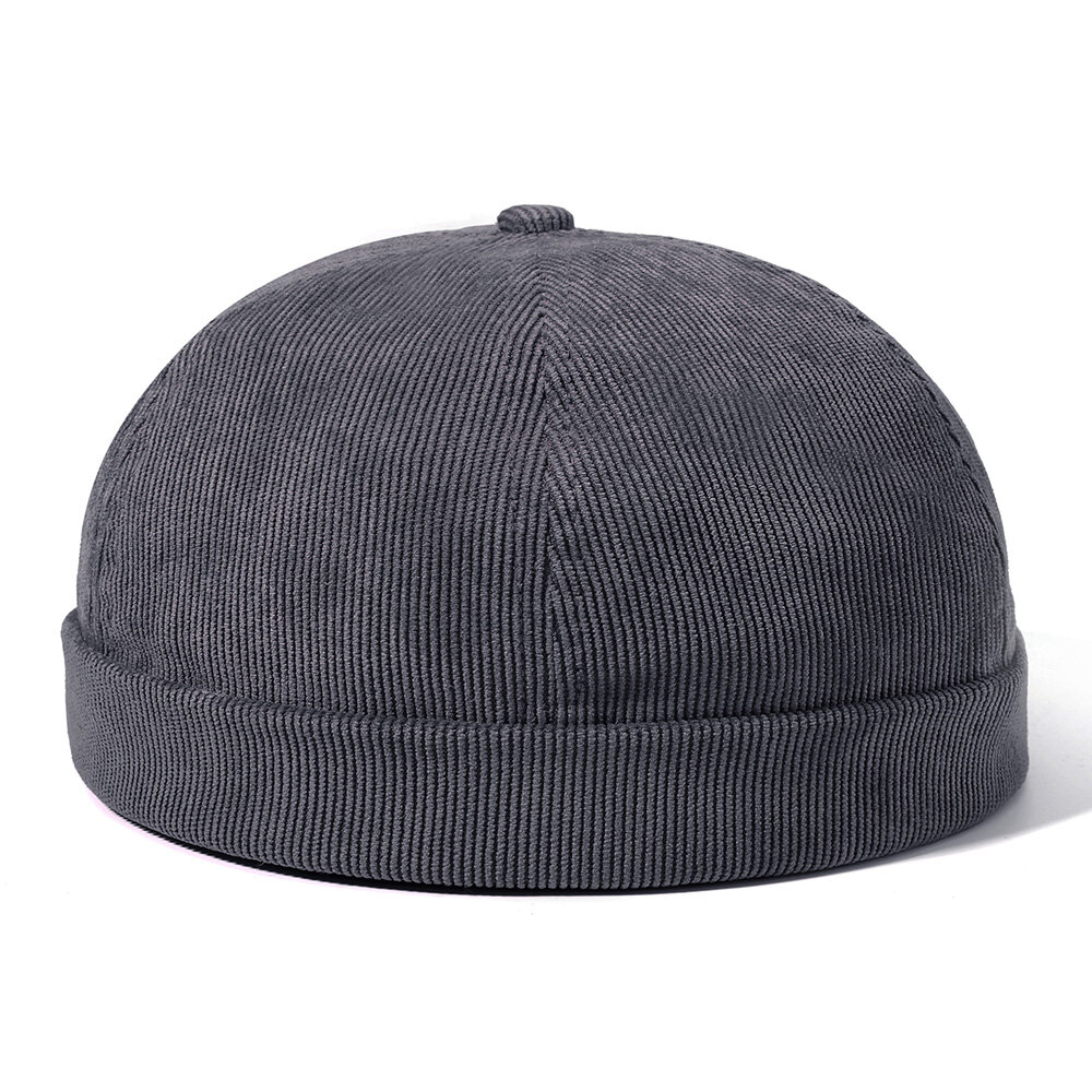 Mens Womens Winter Cord Einstellbar Französisch Brimless Hüte Mode Skullcap Sailor Cap