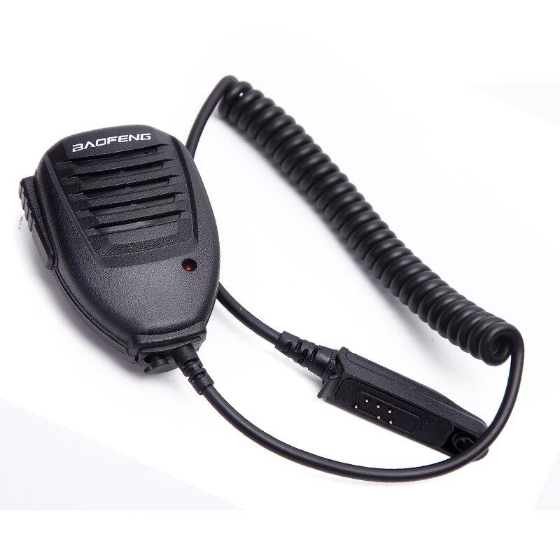 BAOFENG Microfone de Ombro Microfone de Mão Microfone para BAOFENG A58 BF-9700 UV-9R R760 82WP À Prova D 'Água Walkie Talkie