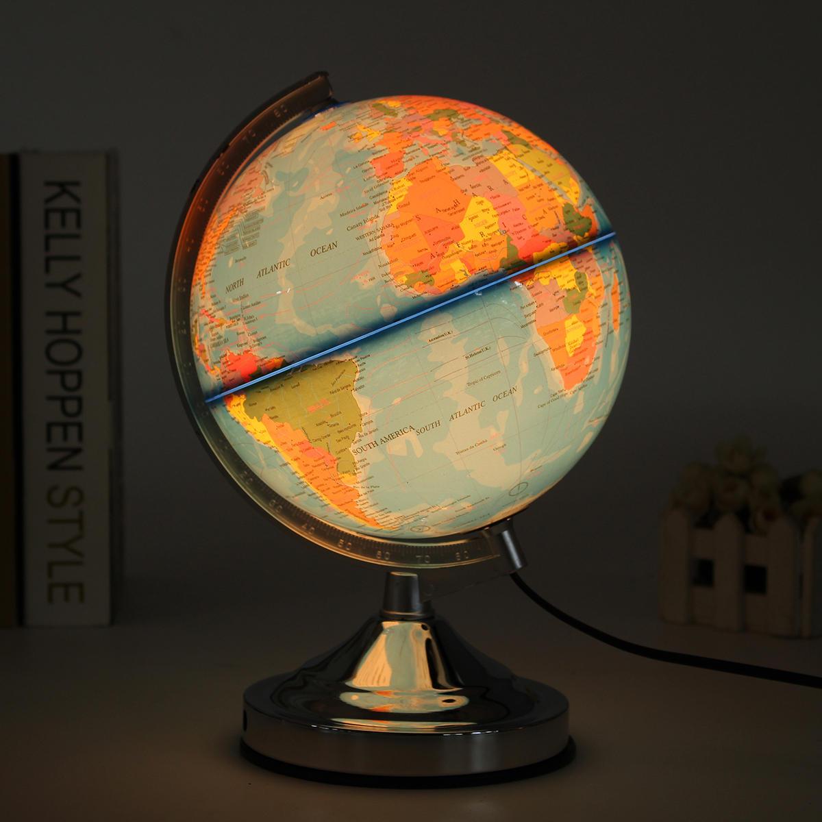 Decoraciones electrónicas iluminadas electrónicas del escritorio de la luz nocturna giratoria del globo del mundo del océano del mundo