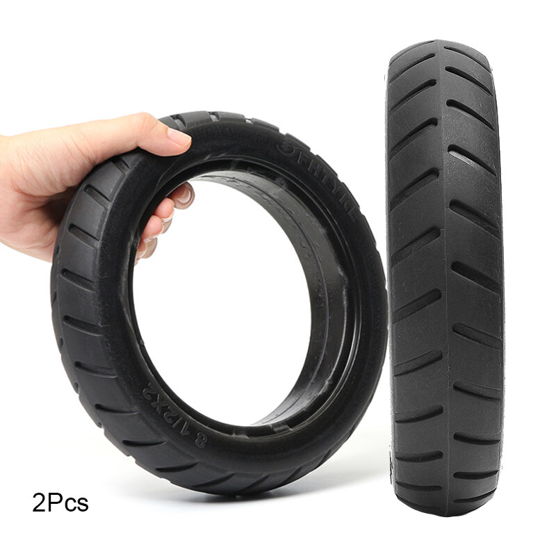 2Pcs BIKIGHT Vacuum Solid Tires for Xiaomi Mijia M365 Electric Scooter Scooter