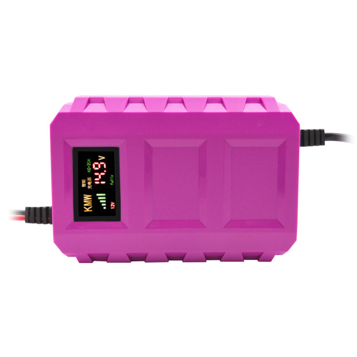 US / EU 12V Pulse Repair Battery Charger LCD Intelligent Automobile Motorcycle Car