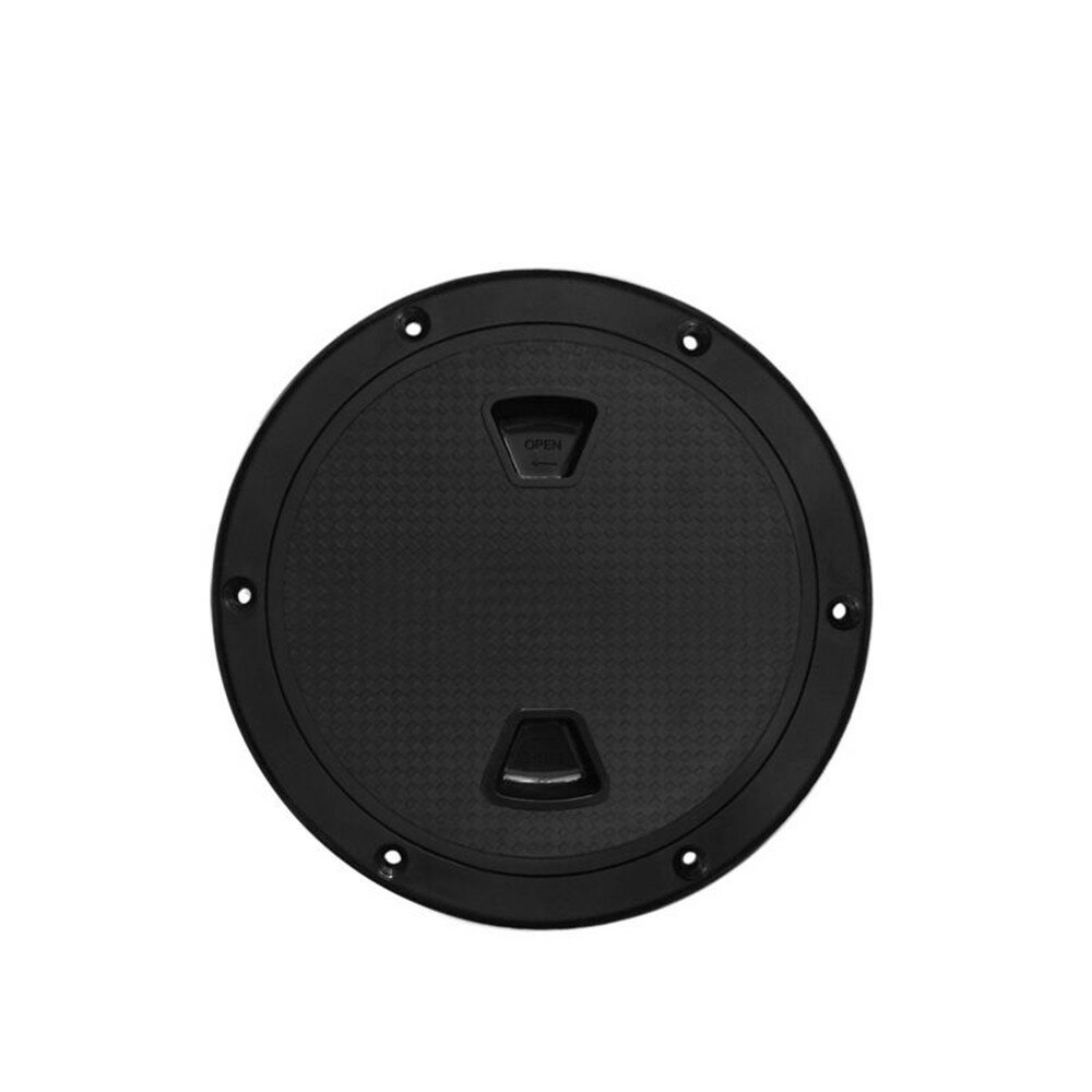 BSET MATEL 4/6/8Inch Black Screw Out Inspection Deck Plate Hatch Marine boat yacht Detachable Cover