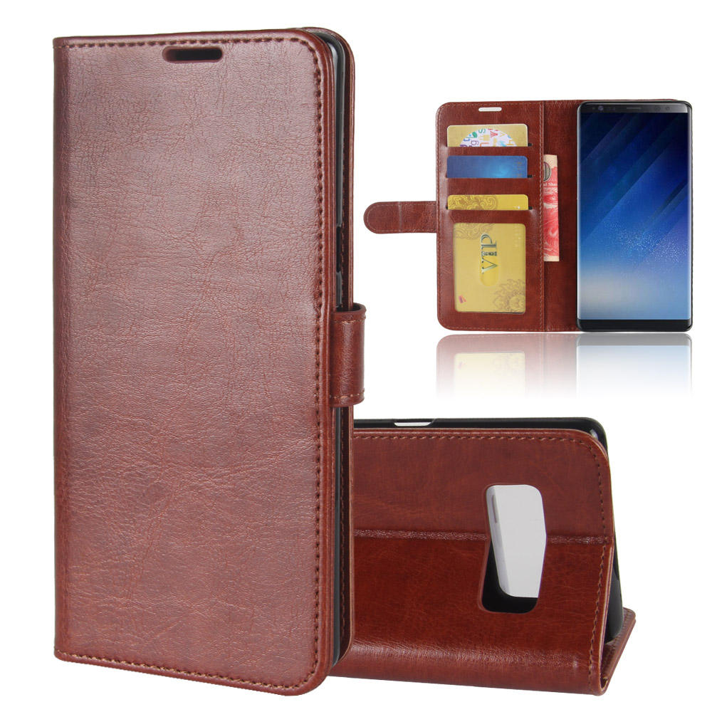 Bakeey™ Bracket Flip Wallet Card Slots PU Leather Case for Samsung Galaxy Note 8