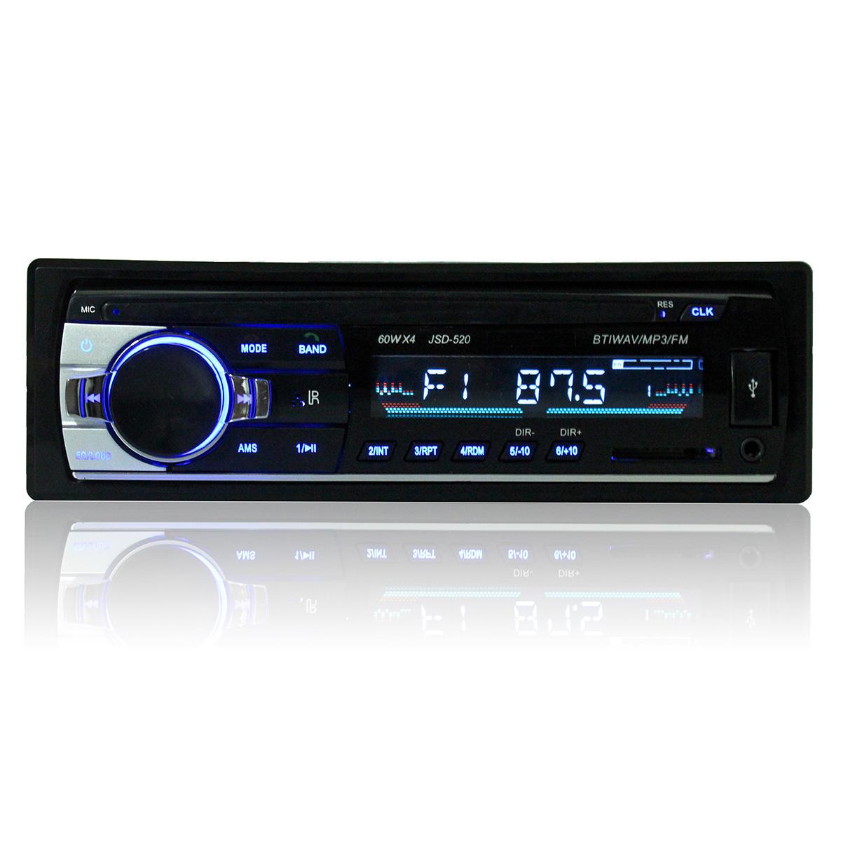 Car Audio Stereo MP3-speler Bluetooth Stereo Radio FM AUX met afstandsbediening voor iPhone X 8 / 8plus