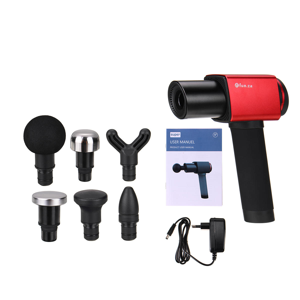 30db 3400mah Percussion Massager 6 Speed Electric Massager Therapy Vibration G un 1200-3200r/min Deep Tissue Muscle Massage 7H Long Battery Life