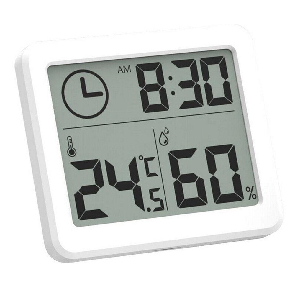MoesHouse Multifunción Termómetro Higrómetro Electrónico Automático Temperatura Humedad Monitor Reloj 3.2 pulgadas Pantalla grande LCD