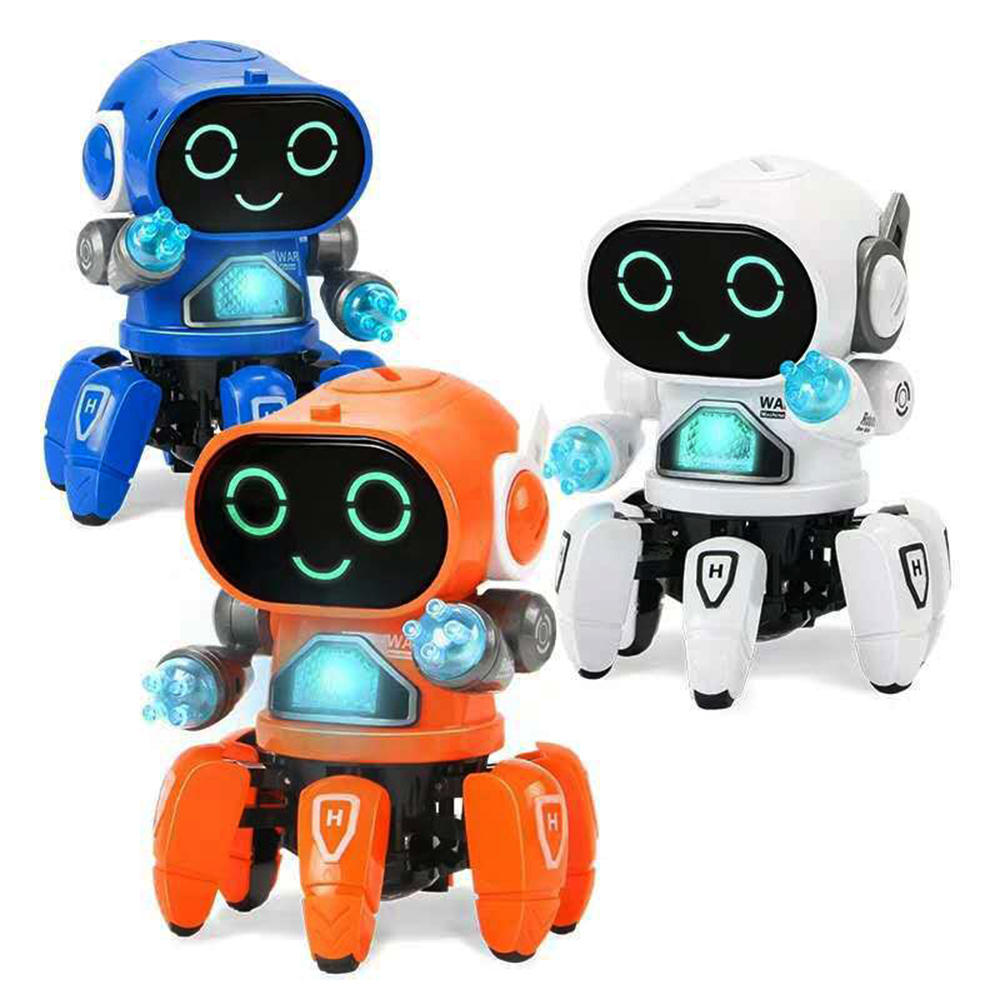 DIY 6-Legged Smart RC Robot Toy Sing Dance Robot Robot Toy Com Colorful Light