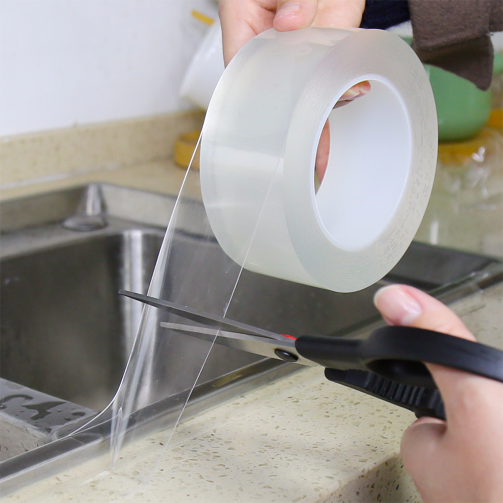 0.8mm Waterproof Transparent Adhesive Tape Traceless Sticky Tape Kitchen Sink Toilet Gap Strip Mildew Proof Water Seal Sticker