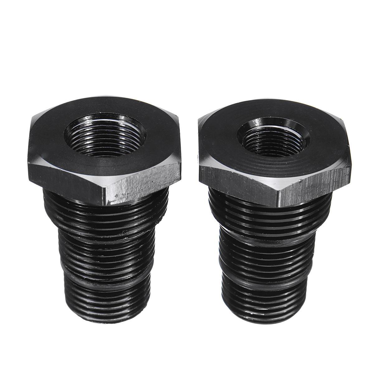 1 / 2-28 5 / 8-24 3 / 4-16 13 / 16-16 3 / 4NPT Gewinde Suppressor Oil Filter Adapter Schwarz