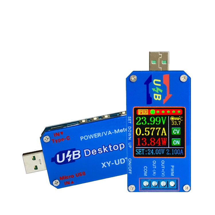 XY-UDT DC USB Test Cihazı DC Boost / Buck Dönüştürücü CC CV Güç Modülü 5V IÇIN 0.6-30 V 2A Ayarlanabilir Düzenlenmiş Güç Kaynağı Gerilim Akım Kapasite Ölçer