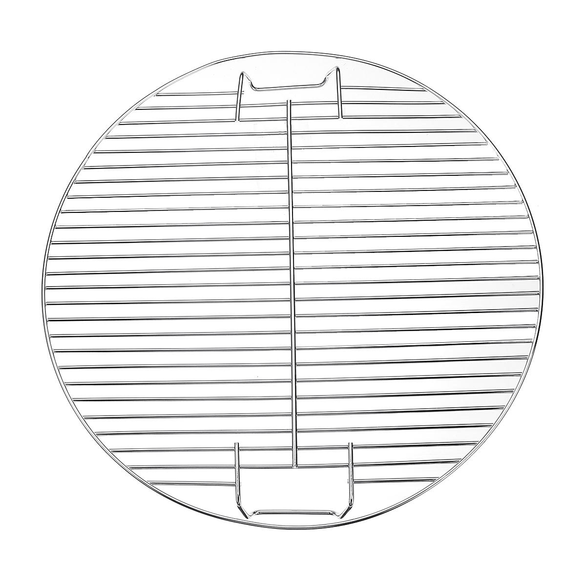 44.5cm Round BBQ Grill Grate Charcoal BBQ Grill Pan Replacement Metal Cooking Barbecue Mesh Frame