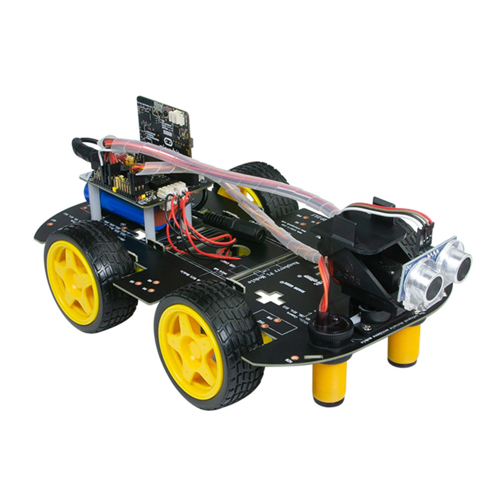 Xiao R DIY 4WD Micro:bit Program Tracking App/Infrared Control Obstacle Avoidance Smart RC Robot Car