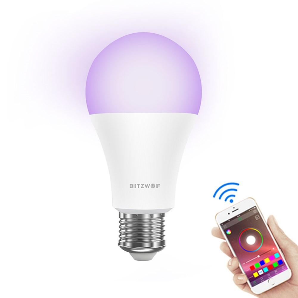 Application BlitzWolf® BW-LT21 RGBWW 10W E27 intelligente avec ampoule LED avec Amazon Alexa Assistant Google AC100-240V