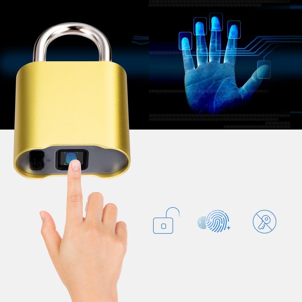 Smart Keyless Bluetooth Fingerprint Lock IP65 Wasserdichter Diebstahlschutz Fingerprint Vorhängeschloss Türschloss Gepäck
