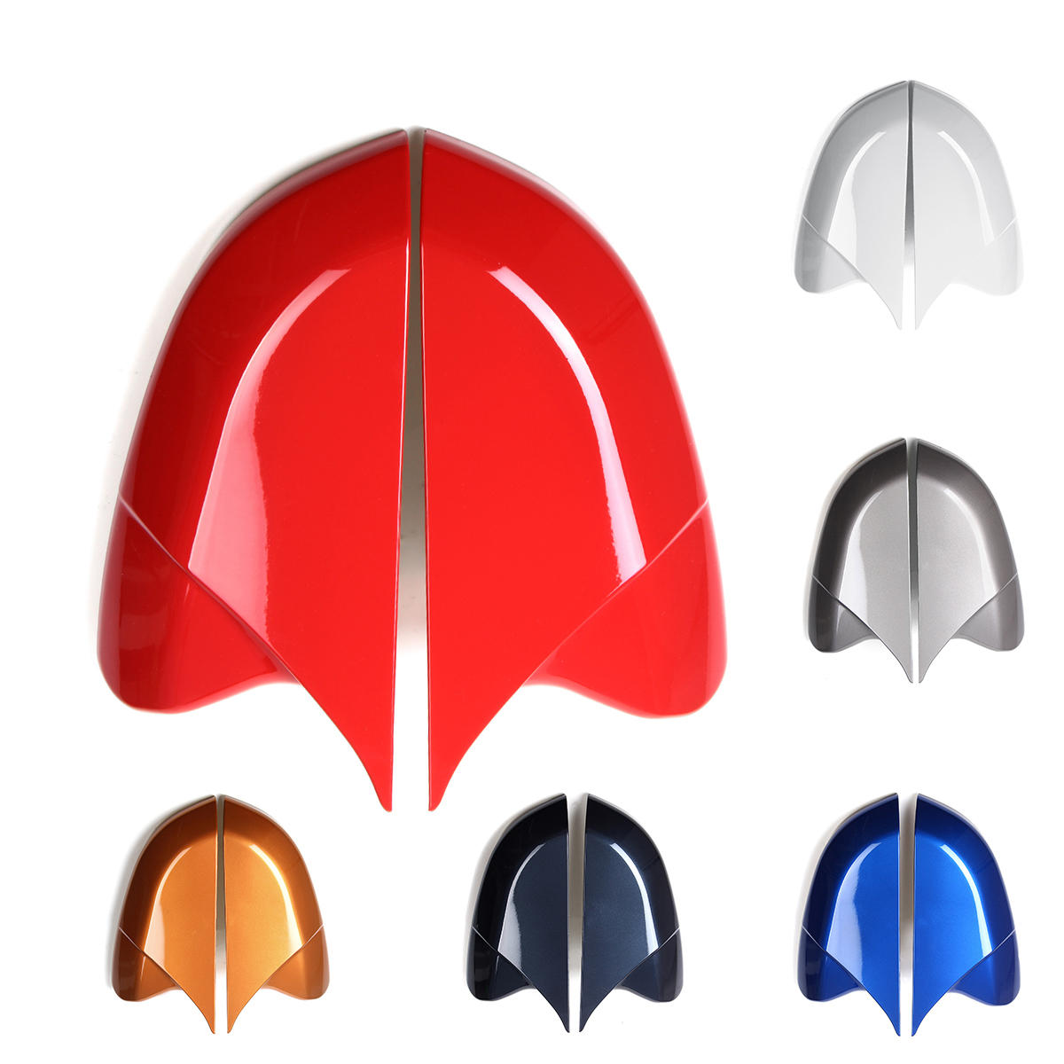 Horn Style Rear View Side Car Mirror Cover Caps Fit For Honda Civic 2016-2018