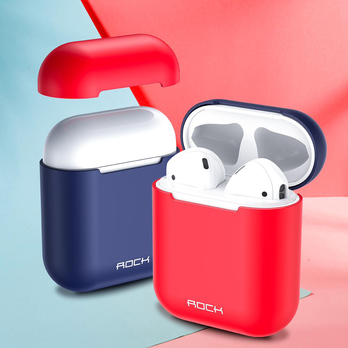 Rock Slim Silicone Protective Case For Apple AirPods (2016) / Apple AirPods 2 (2019)