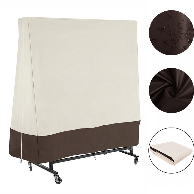 Outdoor Heavy Duty Waterproof Table Tennis Cover 300D Waterproof Ping Pong Table UV Rain Dust Protector