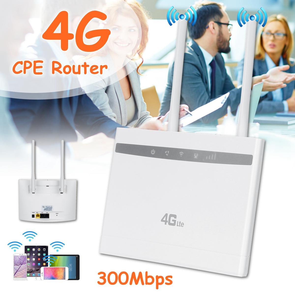 4G LTE CPE راوتر واي فاي مكرر لاسلكي هوت سبوت سيم بطاقة مودم ثنائي هوائي سيارة