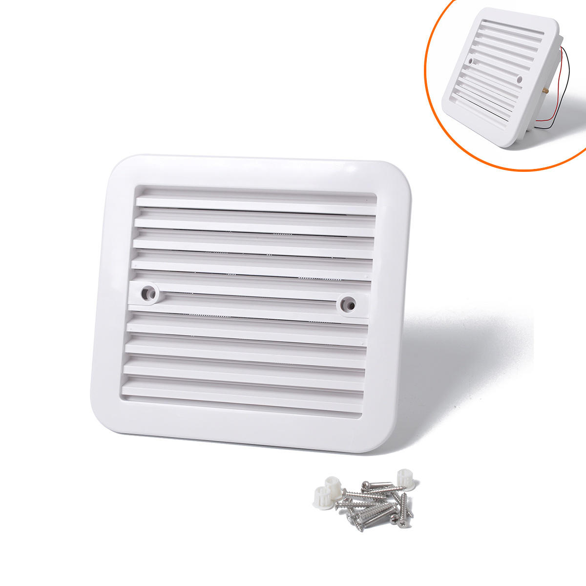 RV Caravan Motorhome Side Air Vent Ventilation Air Fan Waterproof Black