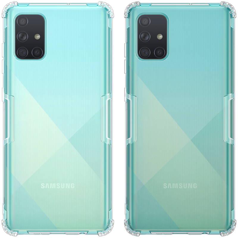 NILLKIN Bumpers Natural Clear Transparent Shockproof Soft TPU Protective Case for Samsung Galaxy A71 2019