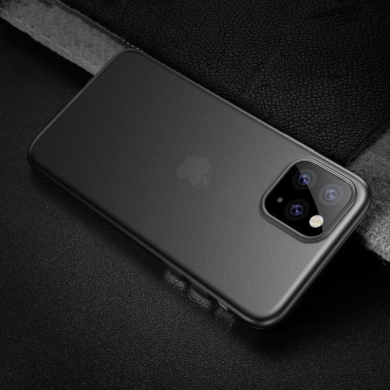 Cafele Etui de protection TPU translucide mat ultra-fin et anti-rayures pour iPhone 11 Pro Max de 6,5 pouces