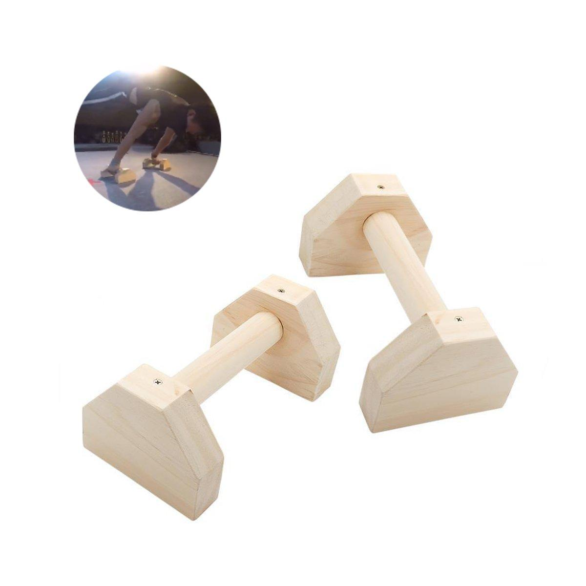 KALOAD Wooden Parallettes Gymnastics Calisthenics Handstand Bar Fitness Push Up Stand