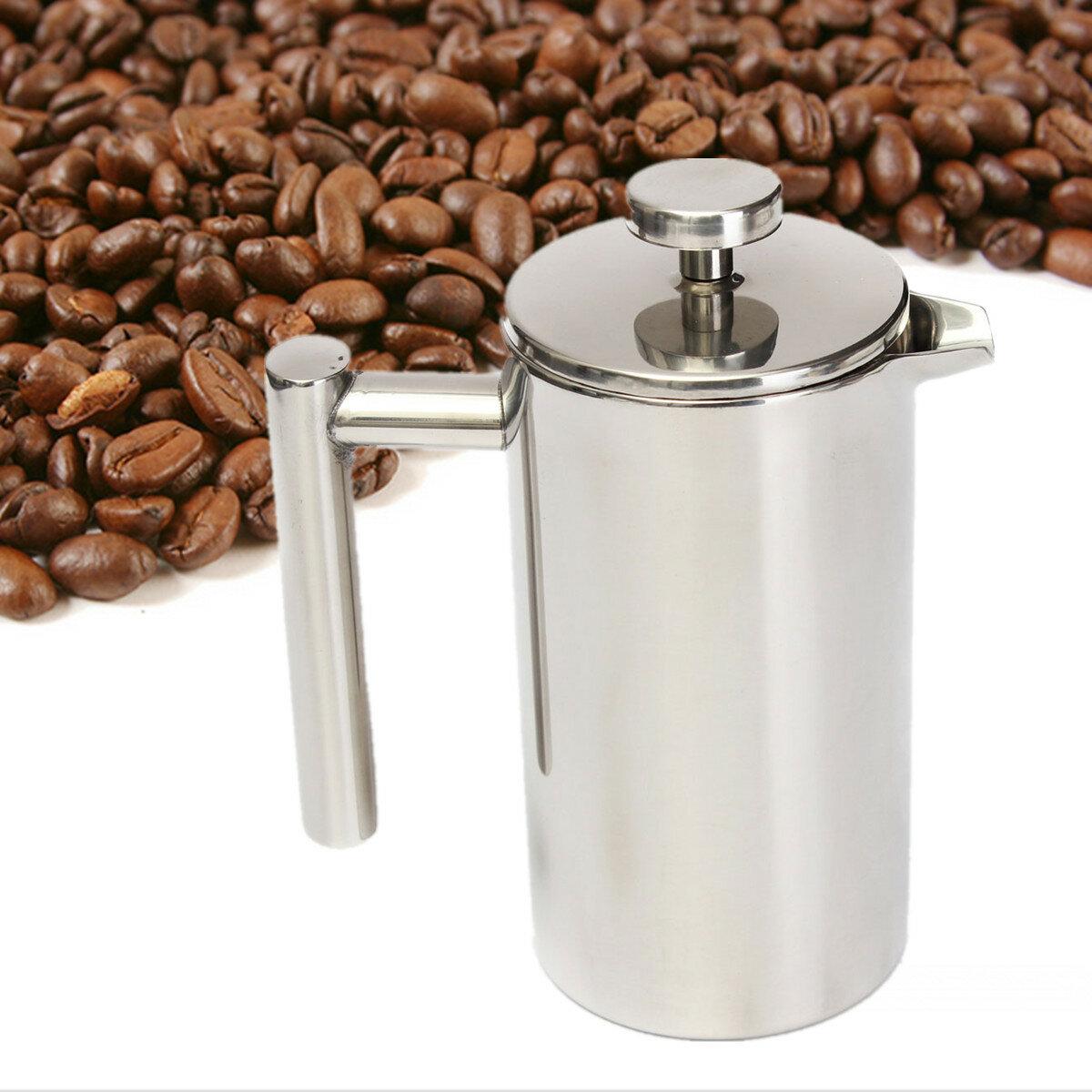 Filtre à café en acier inoxydable à deux étages 800 / 1000ml Filtre Bouteille d'eau pour théière