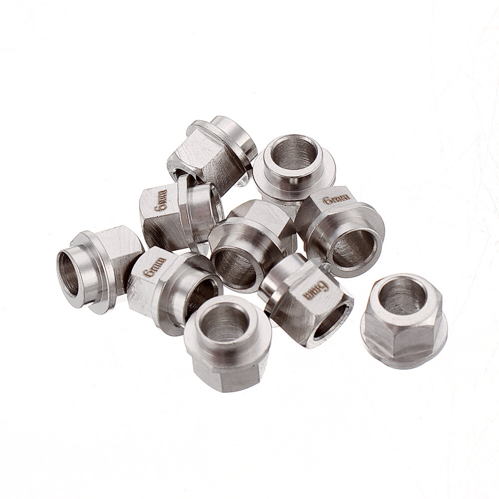 Two TREES® 10pcs Openbuilds 5mm Bore Eccentric Spacers Nut for V Wheel Extrusion 3D Printer Reprap Part