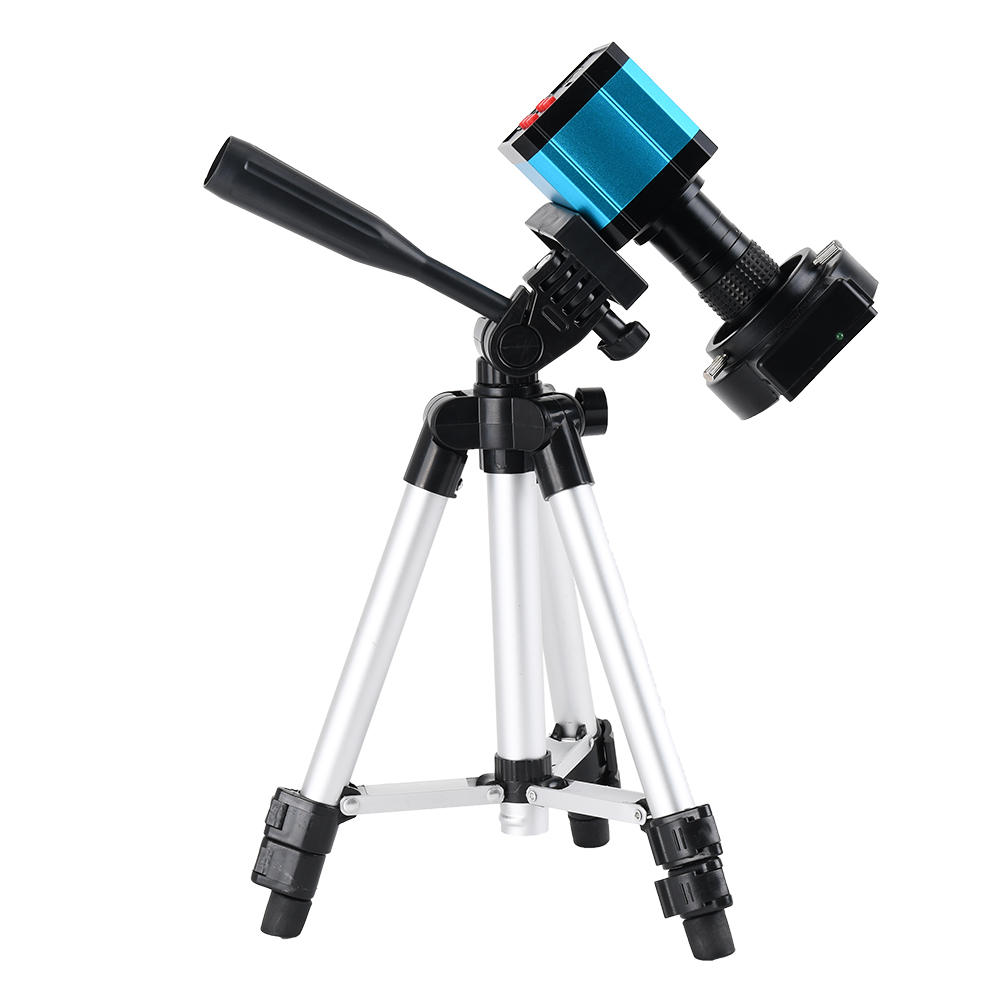 HD USB 37MP 1080P TF Video Recorder Microscope Camera with MINI Stand and Zoom 100x C Mount ZoomLens For Lab PCB IC BGA Repair