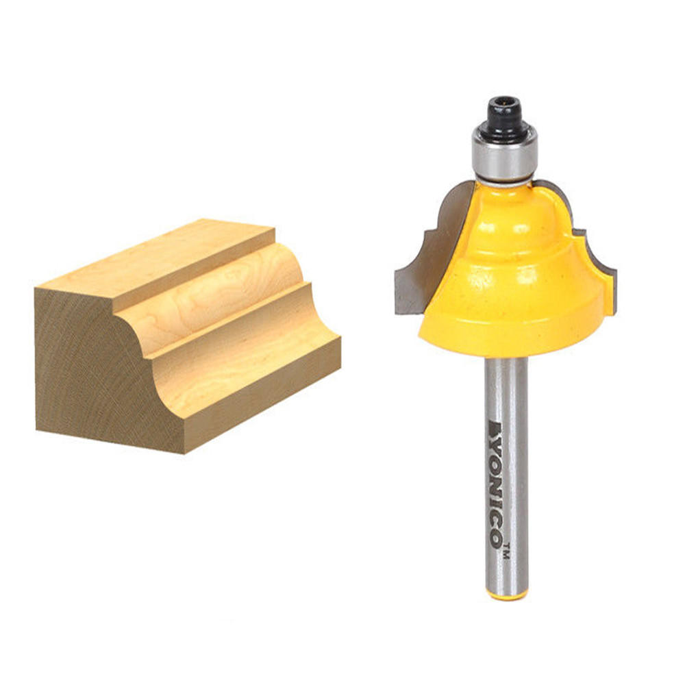 """7/16 Inch Classical Roman Ogee Edge Forming Router Bit - 1/4"""" Shank Woodworking Tools"""
