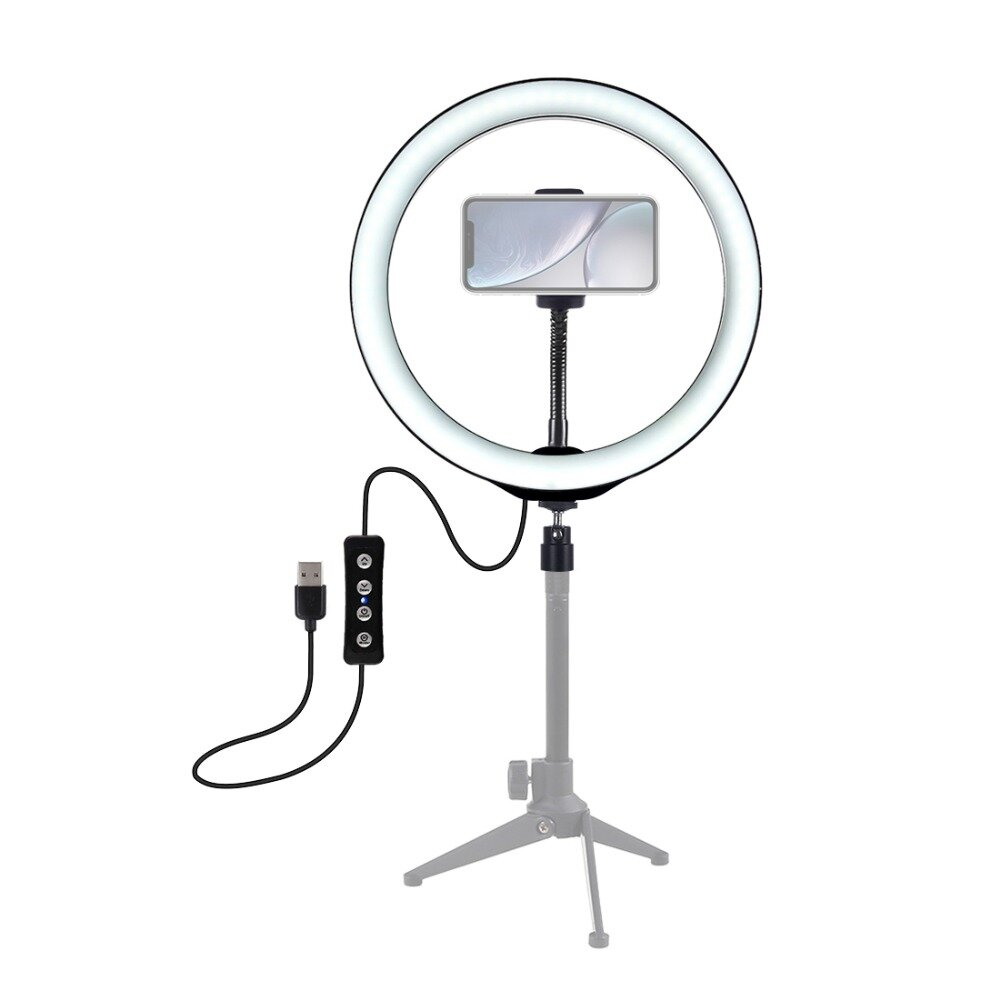 PULUZ PU407 12 بوصة 3200K-6500K Dimmable LED فيديو Ring ضوء with هاتف Clip for Selfie Vlog Tik Tok Youtube Live Streaming