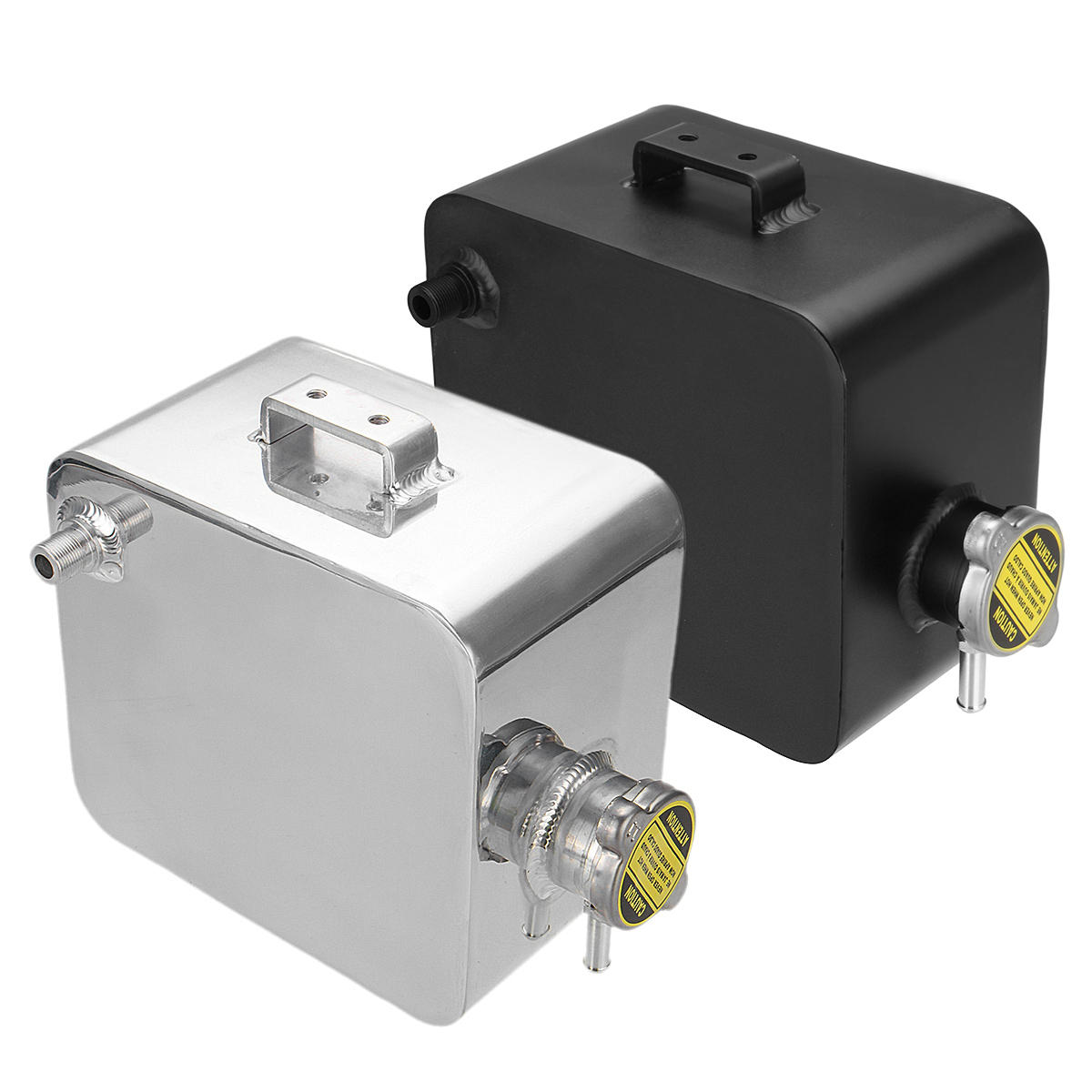 2.5L Universal Aluminum Water Coolant Tank 1.3 Bar Pressure With Level indicator