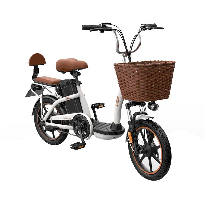 HIMO C16 12Ah 48V 250W 16 Inches Electric Bike From Xiaomi Youpin 25km/h 55km Mileage Electric Bicycle Max Load 100kg