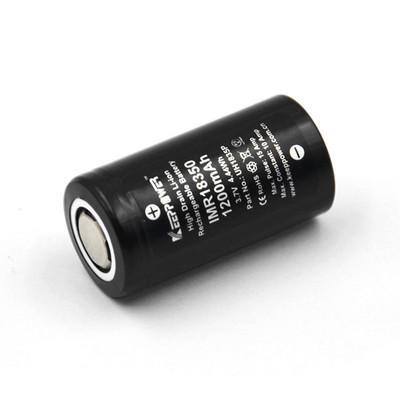 2 pezzi Keeppower IMR18350 10A scarica 1200mAh ricaricabile 18350 Batteria per tutti Astrolux 18350 torce elettriche