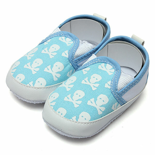 Skull Baby Anti-slip Shoes Prewalker Toddler Canvas Crib Slippers