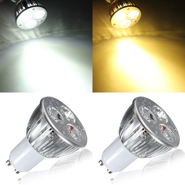GU10 6W White/Warm White 3LED Spotlightt Bulb LED Lamp Light AC85-265V