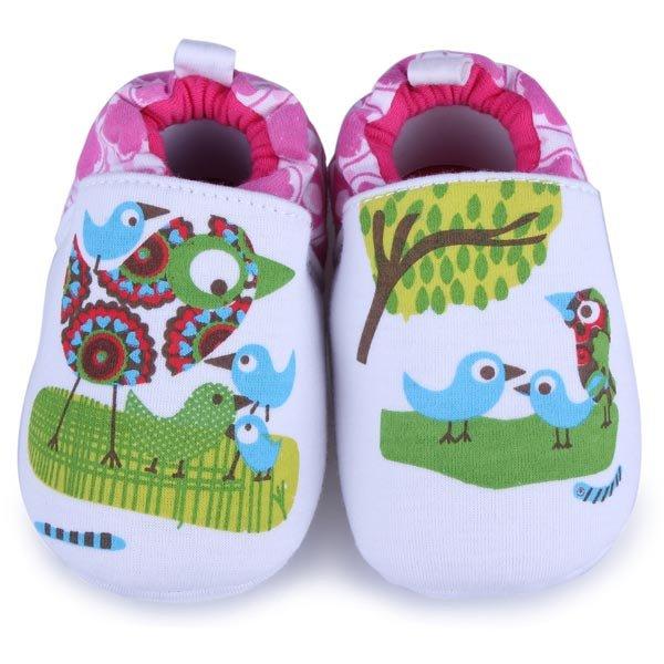 Baby Cartoon Bird Prewalker Shoes Infant Soft Learning Footwear