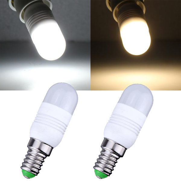 E14 1.8W Warm White/White 11 SMD 3014 220V LED Light Bulb