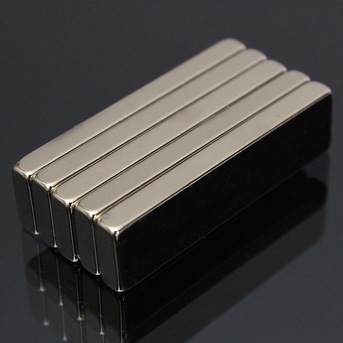 5個N52 40x10x4mm強力なブロック磁石希土類ネオジム磁石