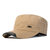 Mens Cotton Sunshade Flat Top Hat Letter Military Casual Baseball Cap